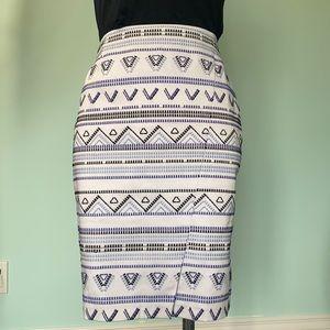 White House Black market embroidered skirt